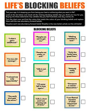 Life's Blocking Beliefs Chart