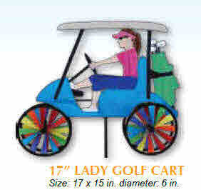 DAME EN VOITURETTE DE GOLF 17''  VIRE-VENTS
