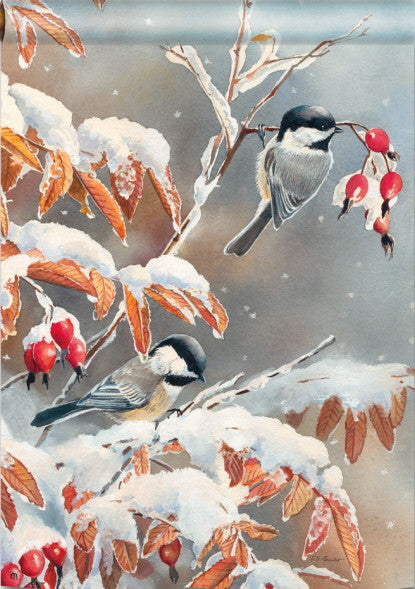 WINTER DAY CHICKADEES
