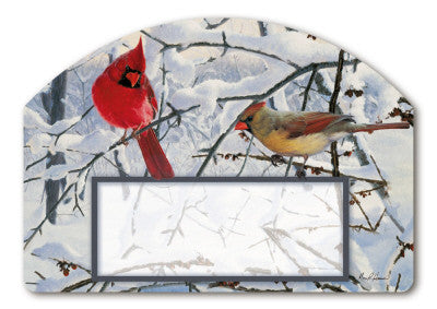 ADRESSE MAGNÉTIQUE WINTER MORNING CARDINALS