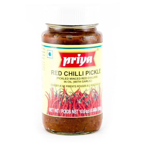 Priya Red Chilli With Garlic Pickle-300GM