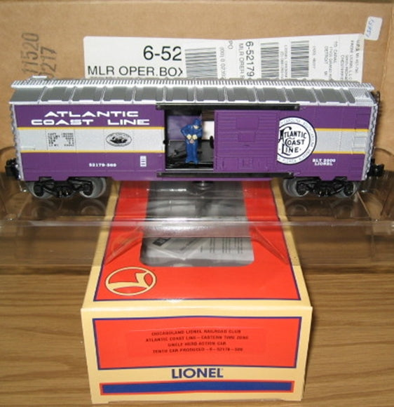 Lionel # 52179 Atlantic Coast Line Time Zone Operating Boxcar