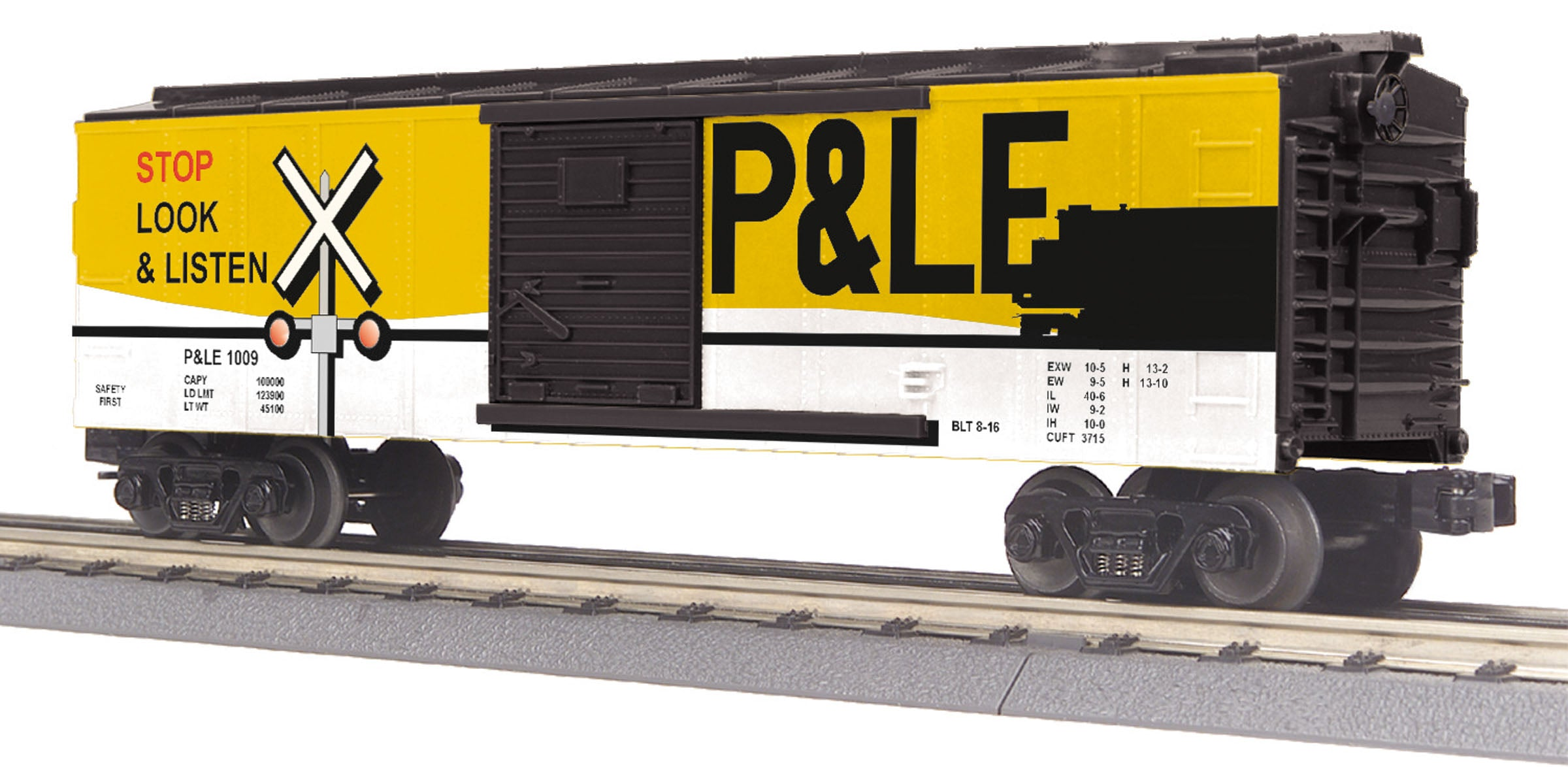 MTH #30-74856 Pittsburgh & Lake Erie Box Car W/Blinking LEDs