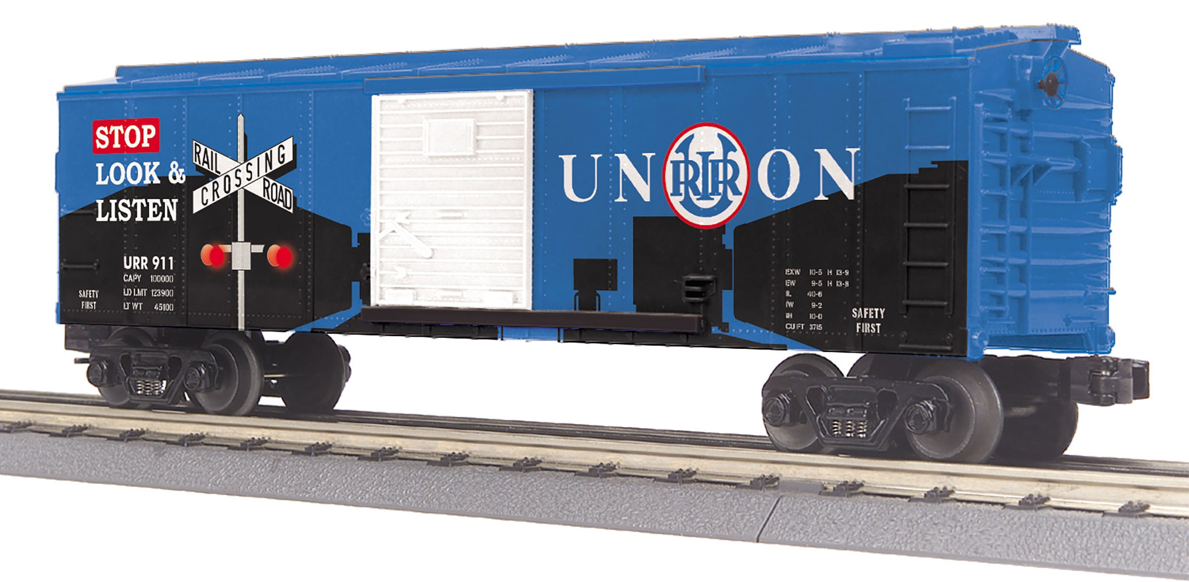 MTH # 74974 Union Rail BoxCar w/Blinking Lights