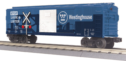 MTH # 74975 Westinghouse BoxCar w LED Blinking Lights