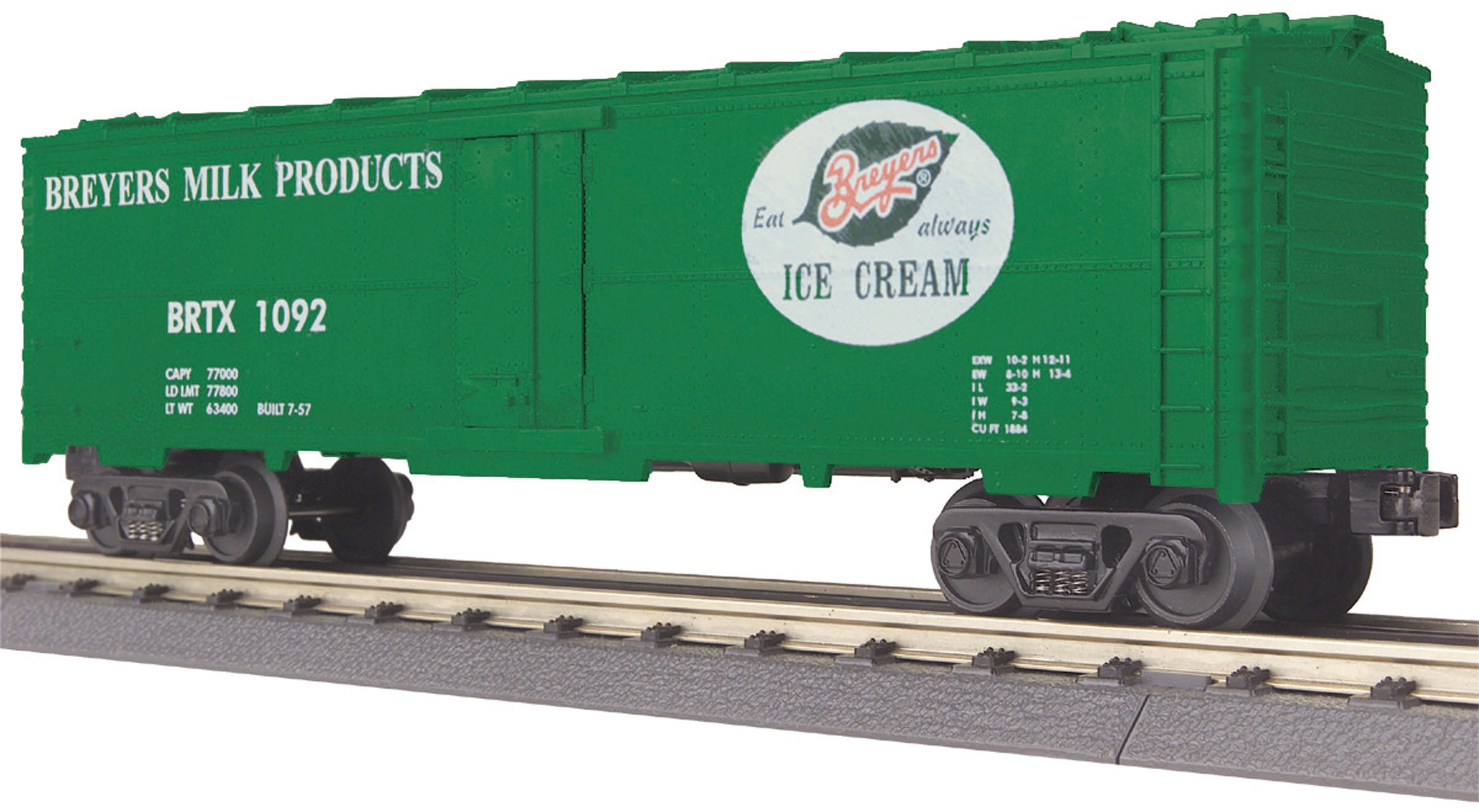 MTH # 30-78190 Breyers Modern Reefer Car