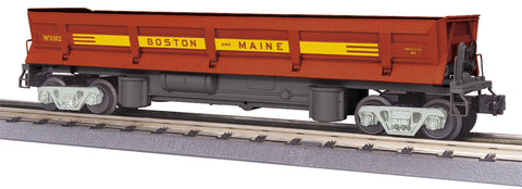 MTH # 30-79359 Boston and Maine Dump Car w/ Operating Bay and Pipe Load