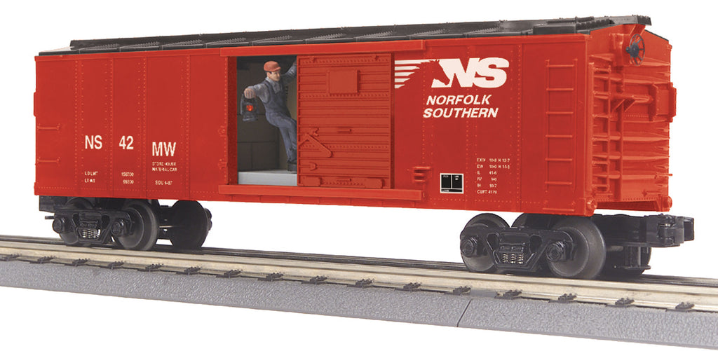 MTH # 30-79515 Norfolk & Southern Operating Box Car w/Signal Man