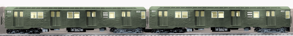 Lionel # 18378 New York City TransitAuthority R-27 Subway 2Pk ( 8030 8031 )