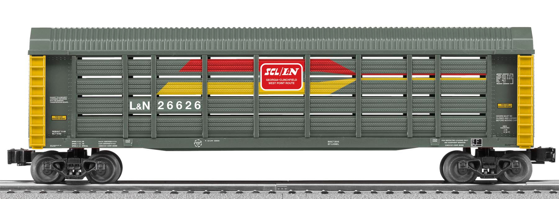 Lionel # 26626 L & N Auto Carrier With Screens