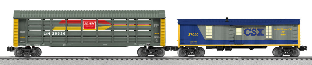 Lionel # 30138 Chessie System Merger Freight Car Add On 2 PK