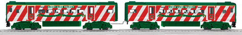 Lionel # 30165 Candy Cane Transit Commuter 2 Pack