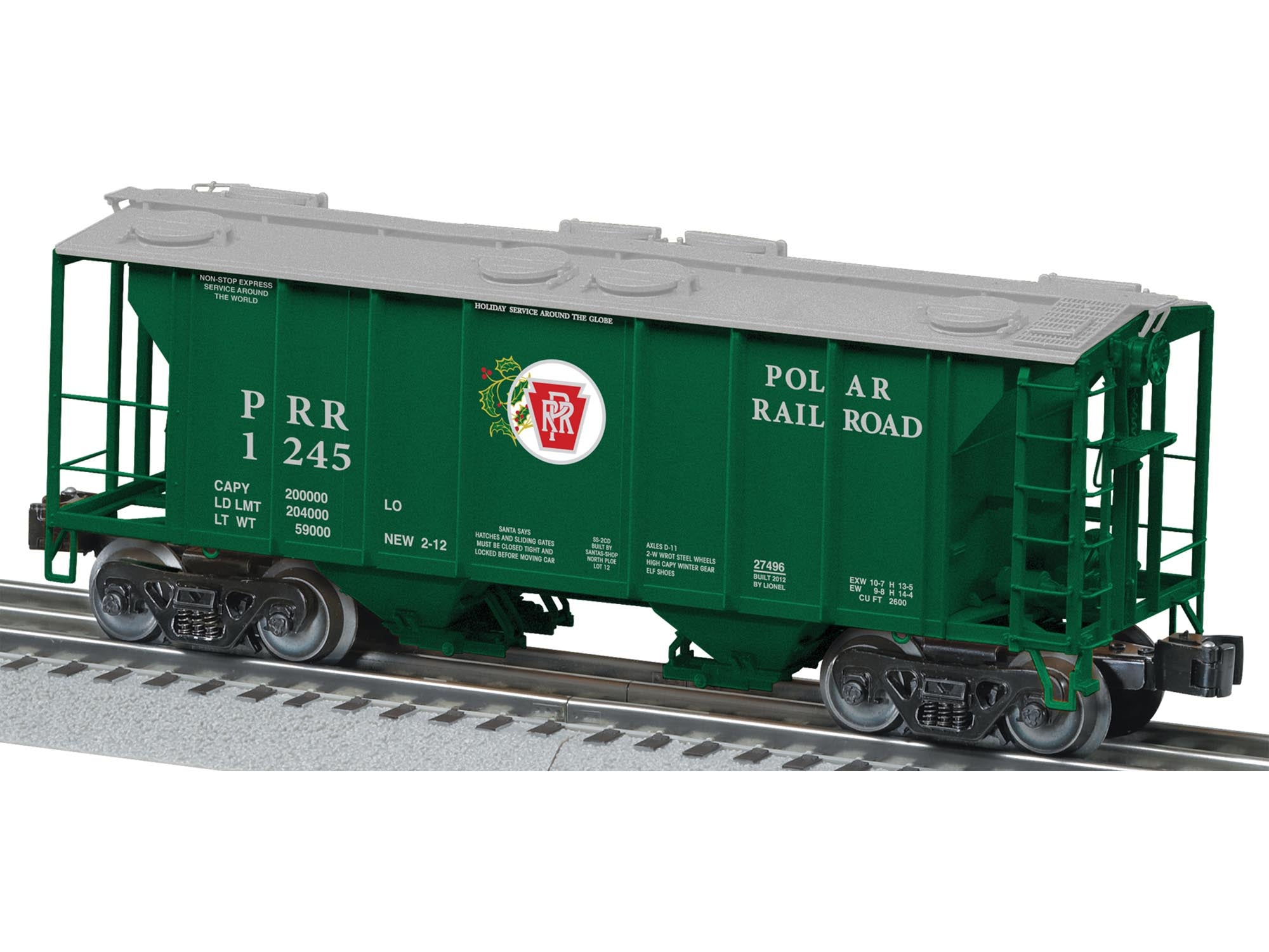 Lionel # 27496 Polar RailRoad PS-2 Hopper # 1245