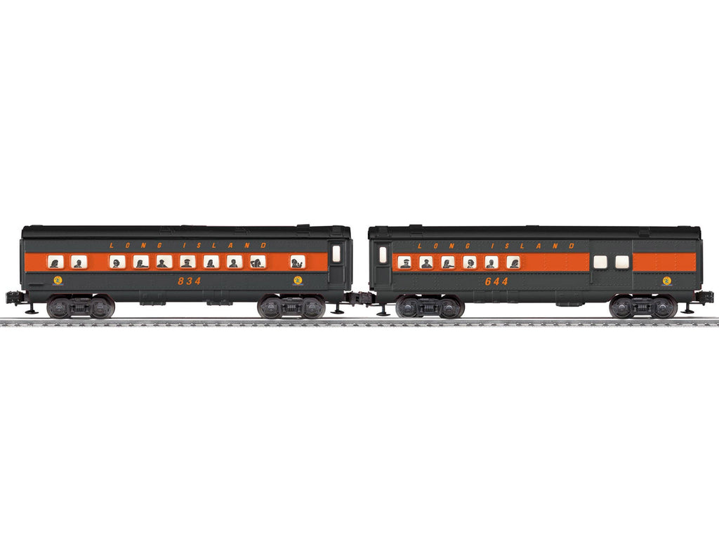 Lionel # 35259 Long Island Rail Road O27 Streamlined Passenger Car 2PK