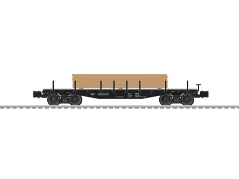 Lionel # 82851 Northern Pacific 40'Flat W/Lumber Load