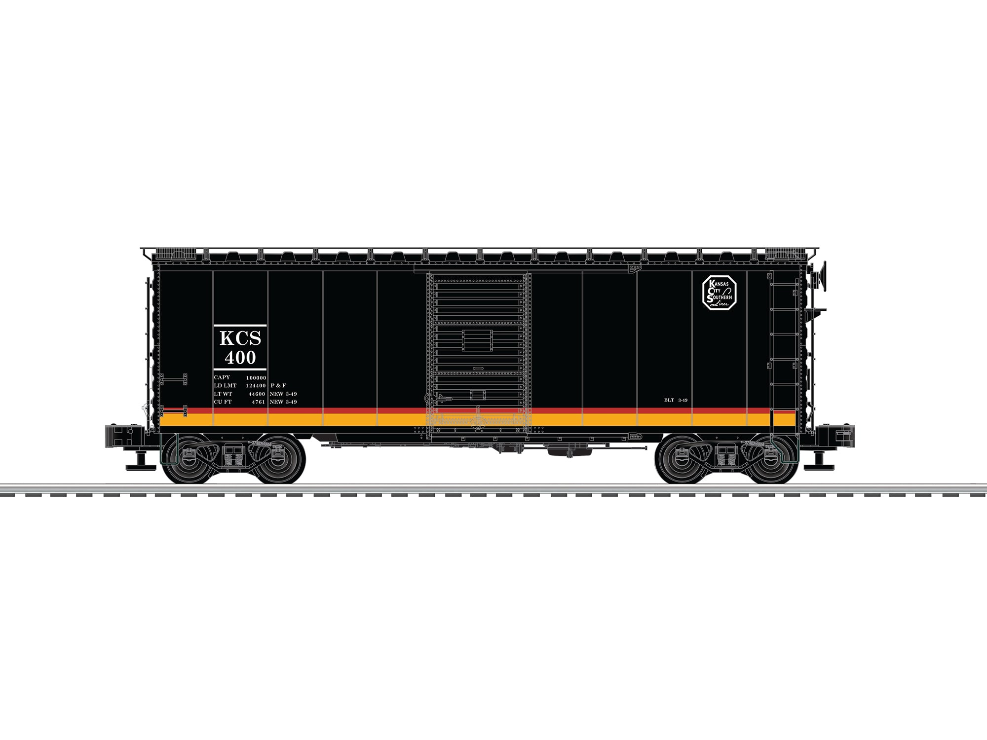 Lionel # 83565 Kansas City Southern PS-1 Express BoxCar