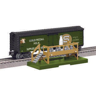 Lionel 83252 Gold Medal Milk Car with Platform