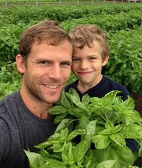 Plant Matt with his son Matt Jr.
