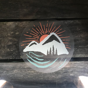 Mountains and Rivers Transparent Decal