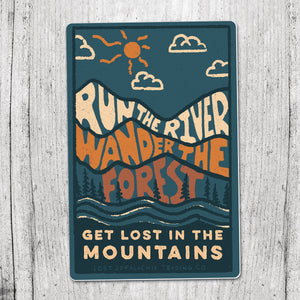 River Forest Mountain Sticker