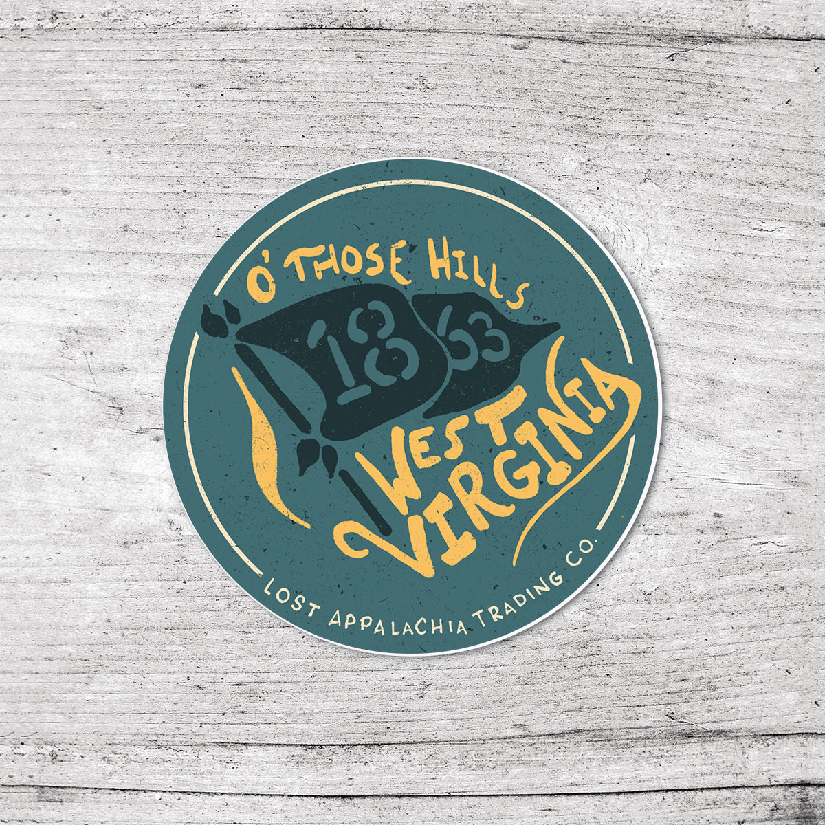 WV Hills Sticker