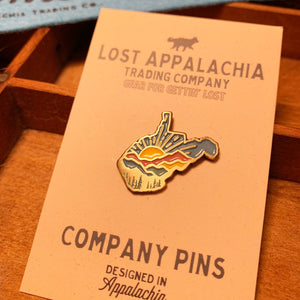 WV Colorful Sunrise Company Pin