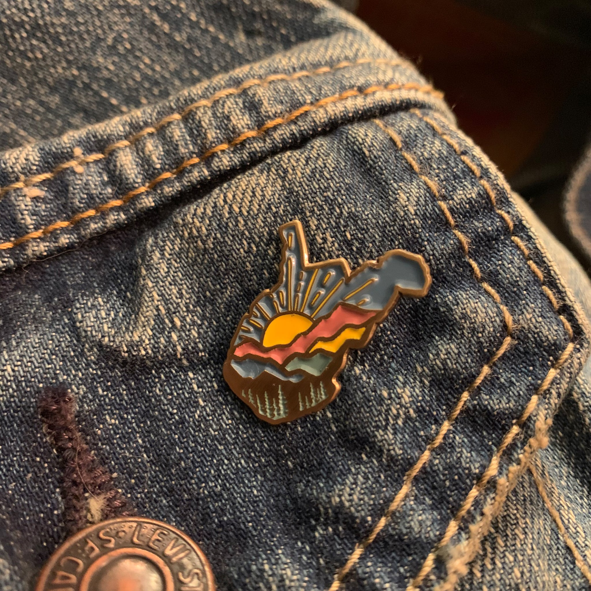 WV Sunrise Company Pin