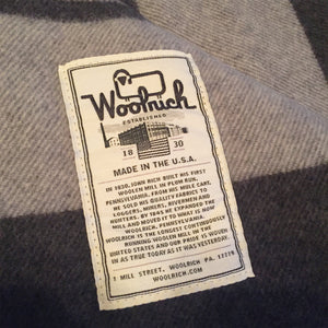 Woolrich Dark Grey Walnut Ridge Blanket