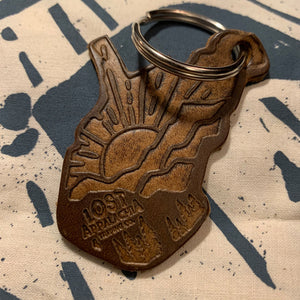 WV Sunrise Leather Keychain