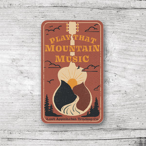 Play That Mountain Music Sticker - Clay