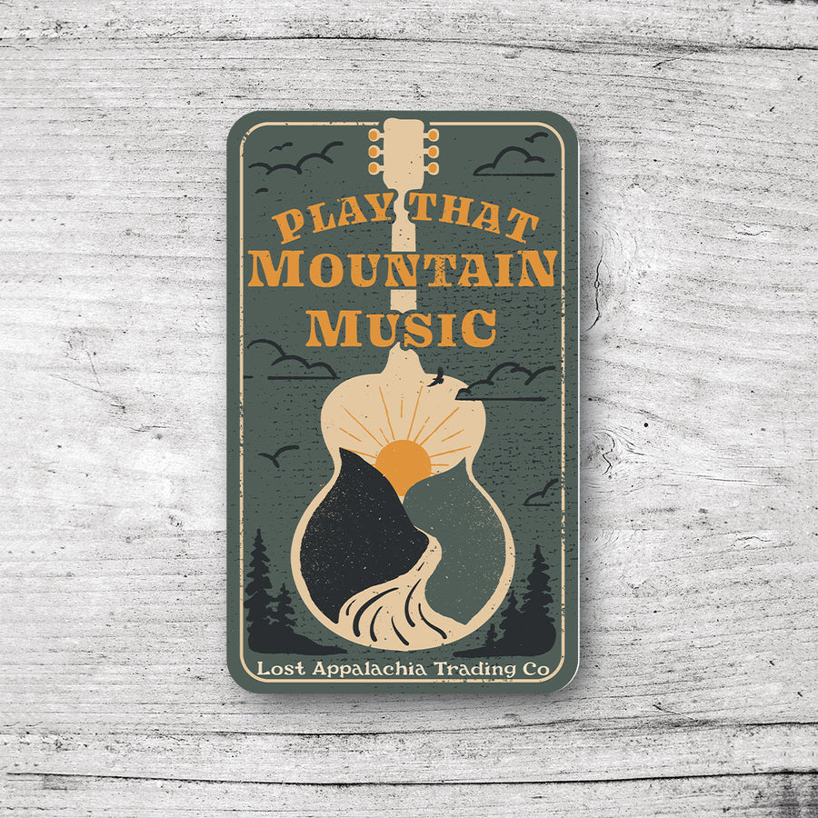 Play That Mountain Music Sticker - Forest
