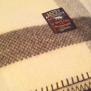 Woolrich Suffolk Stripe 100% Wool Blanket (No Dye)