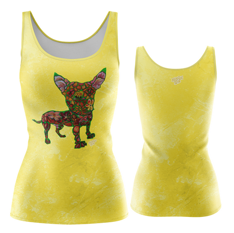 Blossom Fashion Tank in Yellow