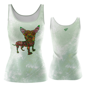 Blossom Fashion Tank in Green