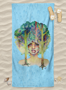 Art Towel - Own Your Roots Blue Rain