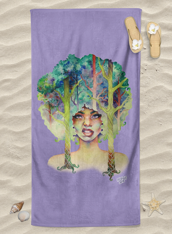 Art Towel - Own Your Roots Violet