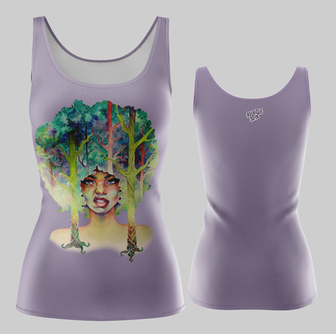 Fashion Tank Own Your Roots Violet