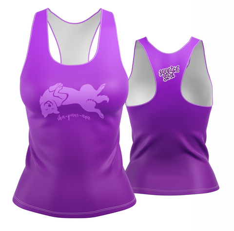 Sha-paws-ana Performance Tank in Violet Ombre