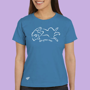 Sha-paws-ana Cotton Comfort Tee in Cobalt