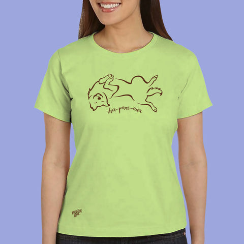 Sha-paws-ana Cotton Comfort Tee in Lime