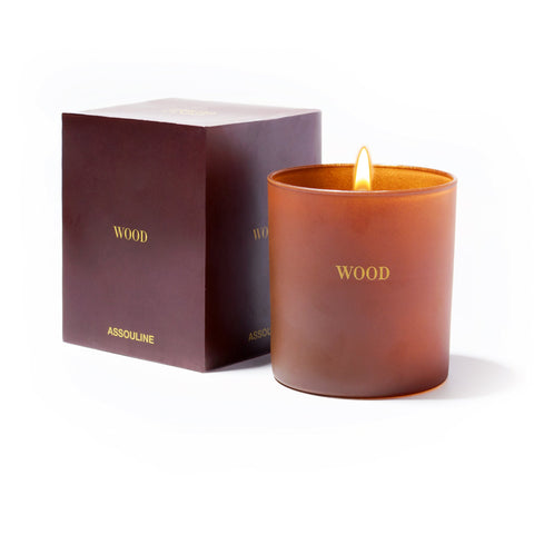 Wood Library Candle - Assouline
