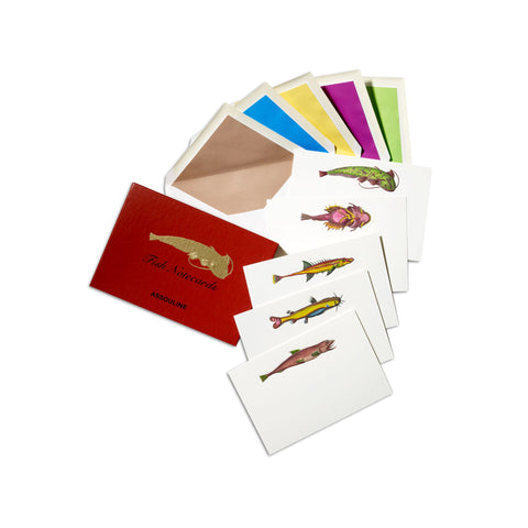 ASSOULINE Accessories Lost Fish Notecards