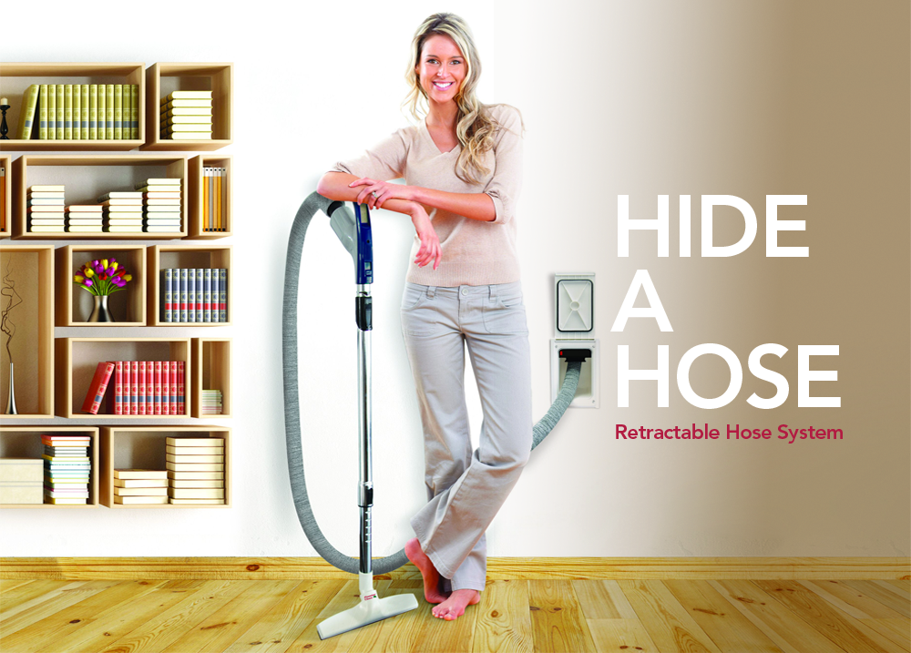 Hide-A-Hose Central Vacuum System