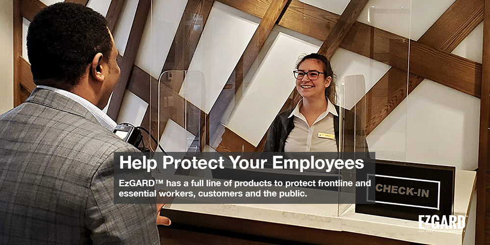 EzGARD Protective PlexiGlass Shields   Keep Your Employees and Customers Safe