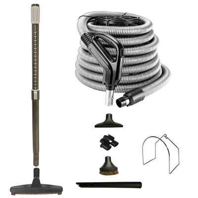 VPC Central Vacuum Accessory Kit with Telescopic Wand and Deluxe Tools Set