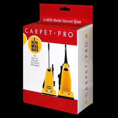Carpet Pro HEPA Vacuum Cleaner Bag - Pack of 6