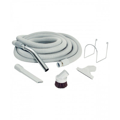CENTRAL VACUUM KIT - HOSE 30' FOR GARAGE - GREY