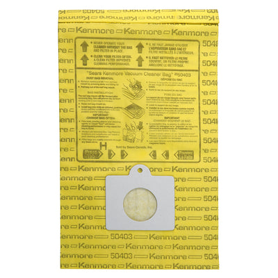 Kenmore Disposable Vacuum Bags 50403