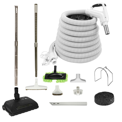 VPC Central Vacuum Accessory Kit with Telescopic Wand and Bonus Tools - White