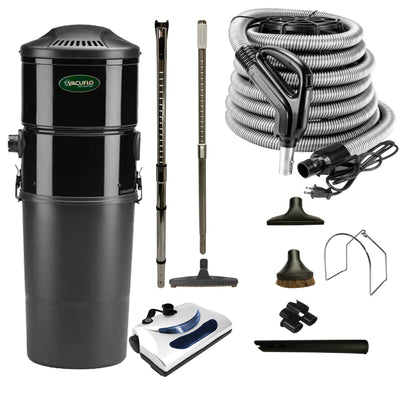 Vacuflo DB5000 Central Vacuum with Basic Electric Package - Black